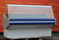 Холодильная витрина среднетемпературная «Ремхладомонтаж» 1.8 м. (Украина), широкая выкладка, Б/у, фото 1