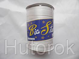 Бейка атласная 1,5 см (белый)
