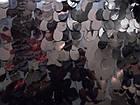 Пайеточная ткань крупная капля (черный), фото 2
