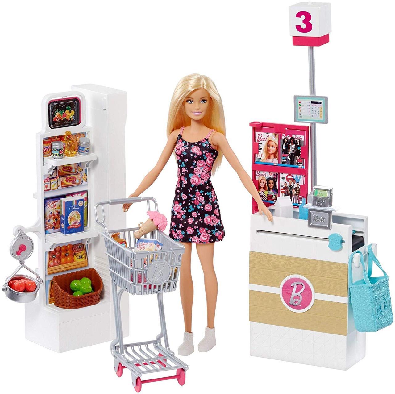 Барби в супермаркете Оригинал Barbie Supermarket Set, Blonde (FRP01) (887961632309)