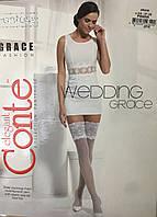 Чулки свадебные Grace CONTE белые, фото 1