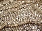 Пайеточная ткань гофре (песочный), фото 3