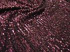Пайеточная ткань гофре (марсала), фото 2