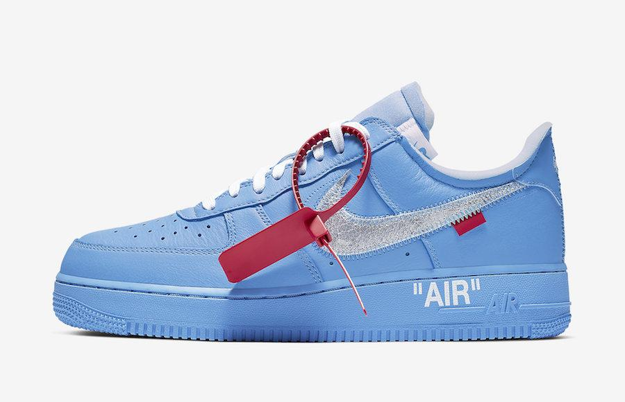 "Кроссовки Off-White x Nike Air Force 1 Low ""Синие"""