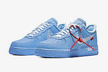 "Кроссовки Off-White x Nike Air Force 1 Low ""Синие"", фото 2"