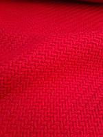 Шерстяная пальтовая ткань с фактурной вязкой