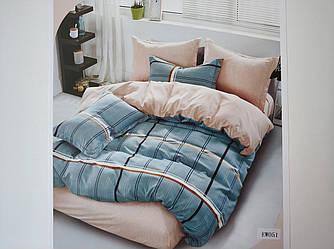 Постельное белье полисатин двуспальный евро ELWAY EW051
