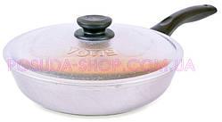 Сковорода алюминиевая Биол с ровным дном и крышкой 20 см А203