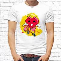 """Мужская футболка Push IT с принтом Сердце с луком """"Love"""""""