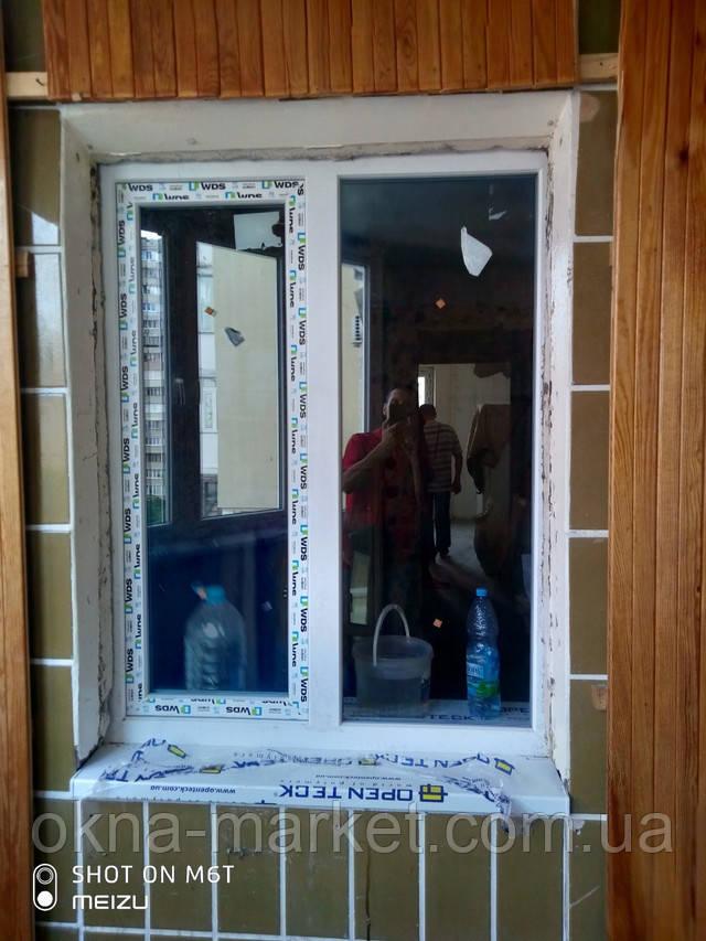 Вікна двостулкові WDS Київ пр. Маяковського 89 - монтаж бригади №4