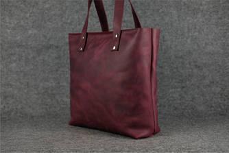 """Женская сумка """"Шоппер большой"""" Винтажная кожа цвет Бордо"""