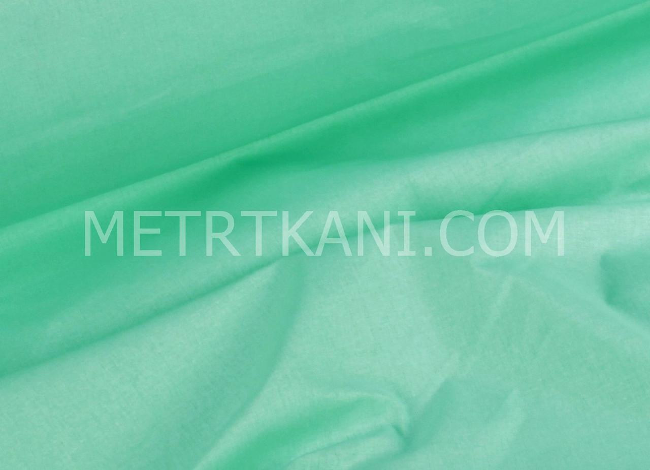 Польская однотонная бязь мятно-салатового цвета 135г/м2 №907