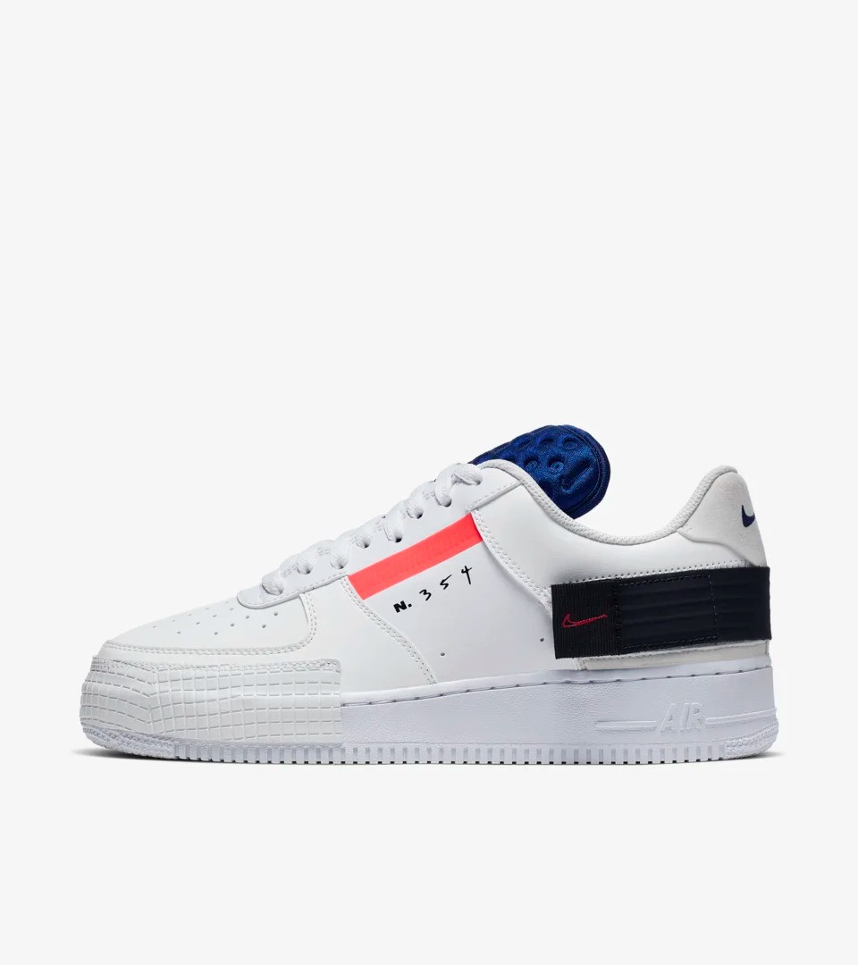 "Кроссовки Nike Air Force 1 N.354 Summit White AF1-Type Off White ""Белые"""