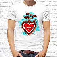 """Мужская футболка Push IT с принтом Сердце """"Amore"""""""