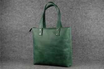 """Женская сумка """"Шоппер большой"""" Винтажная кожа цвет Зеленый"""