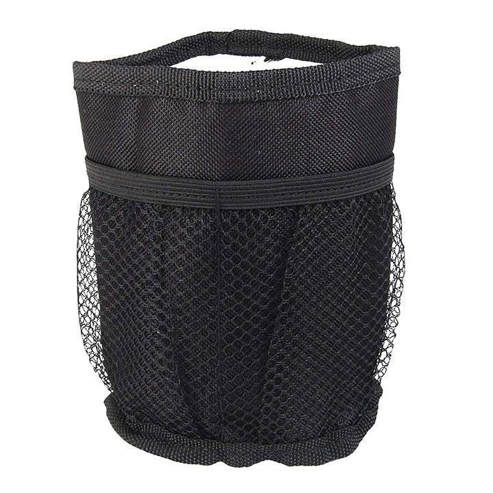 🔝 Подстаканник для детской коляски, термоподстаканник Stroller Bottle Pocket, мягкий, чёрный | 🎁%🚚