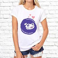 """Женская футболка Push IT с принтом """"Влюбленный ёжик"""""""