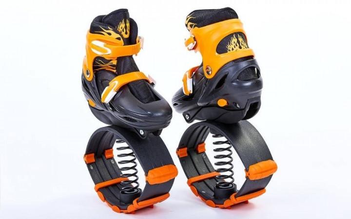🔝 Прыгающие ботинки, джамперы для фитнеса, Kangoo Jumps, цвет - оранжевый, размер 39-42   🎁%🚚