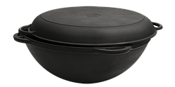 Сковорода чавунна Вок Сітон з кришкою сковородою 8 л (d=340, V=8 л) Кс8кс