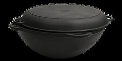 Сковорода чугунная Вок Ситон с крышкой сковородой 8 л (d=340, V=8 л) Кс8кс