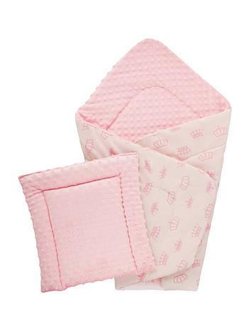 Плед DOTINEM Minky плюшевый розовый 75х85 см с подушечкой 35х35 см (215608-1), фото 2