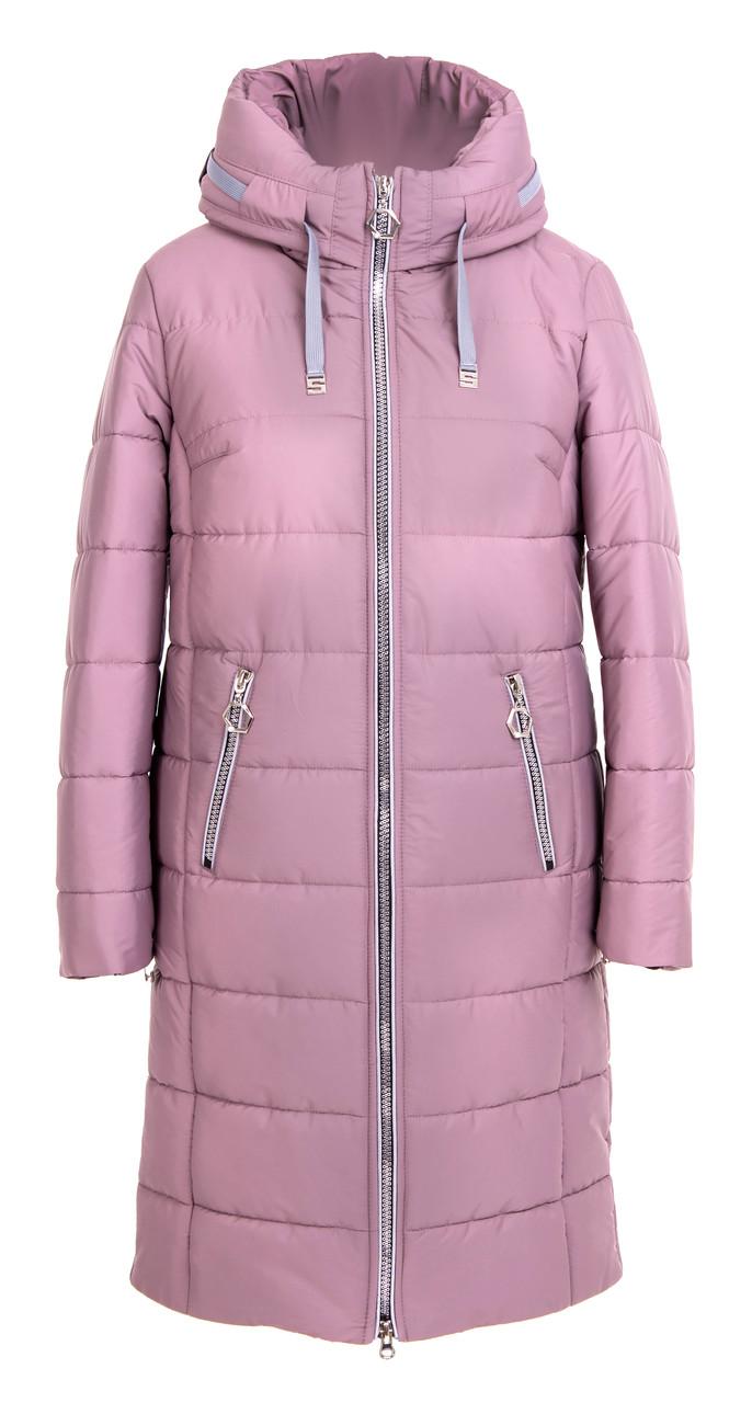 Пуховики зимние женские больших размеров  50-58 розовый