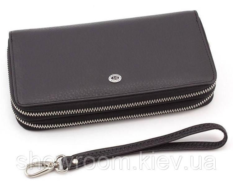 Мужской кожаный клатч на два отделения (27) leather black