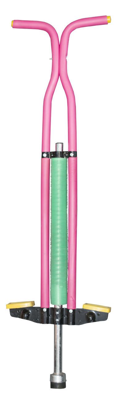 🔝 Pogo Stick, детская прыгалка-кузнечик для детей Пого Стик - розово-зеленый, джампер | 🎁%🚚