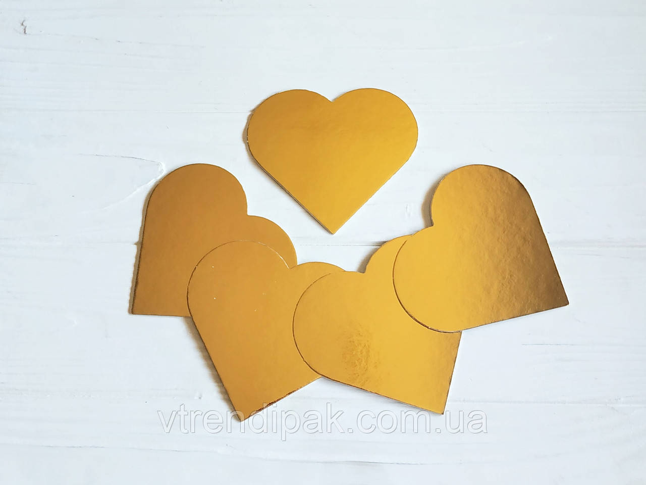 Підложка ламінована золото-срібло 1.2 мм сердечко