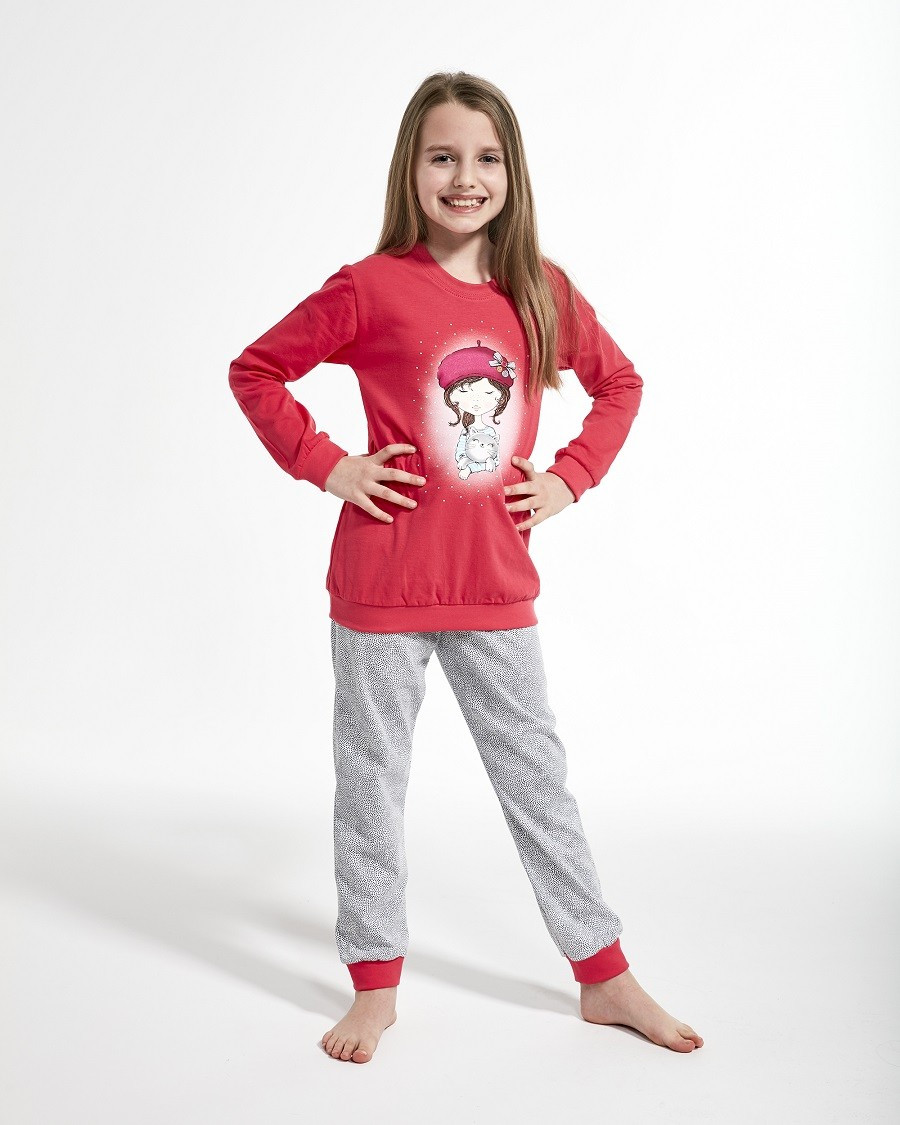 Пижама для девочки 86-128. Польша.Cornette 594/108 GIRL WITH CAT