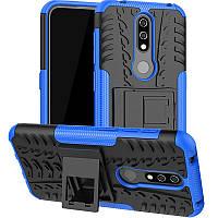 Чехол Armored для Nokia 4.2 DS (TA-1157) противоударный бампер с подставкой синий