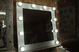 Маленькое зеркало с лампочками, для визажа, фото 3