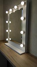 Маленькое зеркало с лампочками, для визажа, фото 2