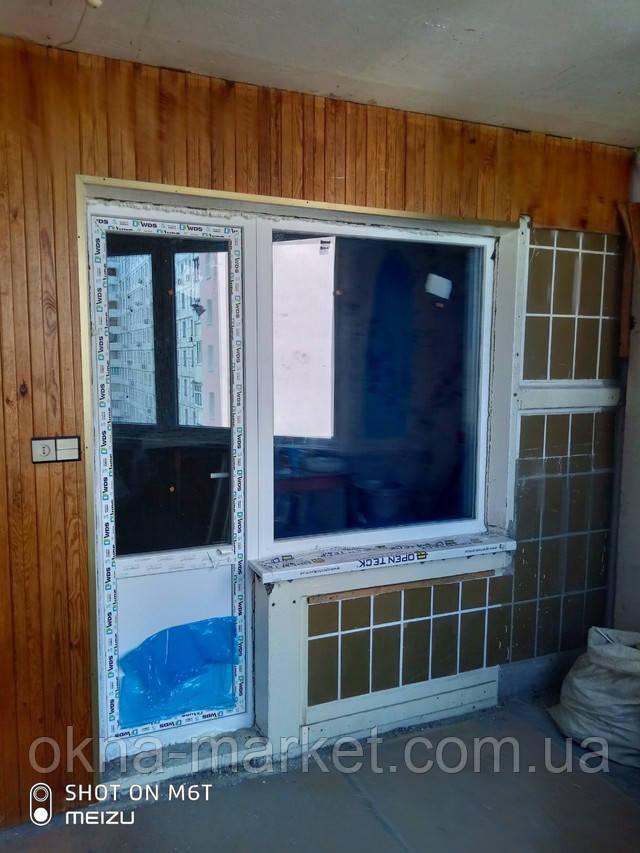 Балконный блок wds Киев пр. Маяковского 89 - фото бригады 4