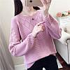 Вязаный свитер с цветком на плечах 44-46 (в расцветках), фото 10