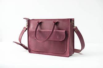 """Женская сумка """"Модель №35"""" Винтажная кожа цвет Бордо"""