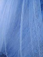Турецкая тюль на фатине ширина 280 см сублимация узор 1 цвет белый, фото 1