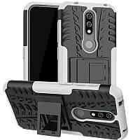 Чехол Armored для Nokia 4.2 DS (TA-1157) противоударный бампер с подставкой белый