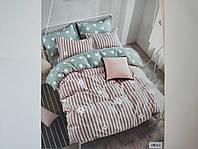 Постельное белье полисатин двуспальный евро ELWAY EW055