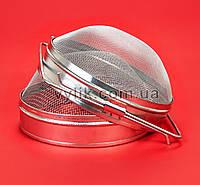Фильтр двойной с круглой сеткой оцинкованный 20 см, фото 1