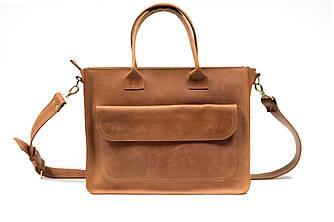 """Женская сумка """"Модель №35"""" Винтажная кожа цвет Коньяк"""