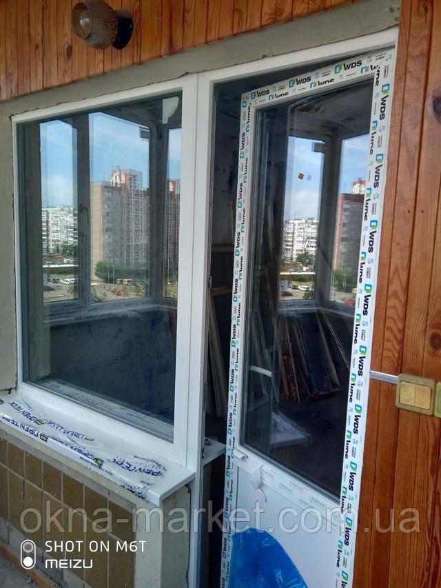 Балконный ПВХ блок ВДС Киев пр. Маяковского 89 - бригада 4