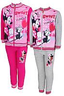 Спортивный костюм 2 в 1 на флисе для девочек оптом, Disney, 98-128 см,  № MIN-G-JOGSET-37