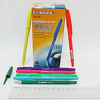 Ручка кулькова BEIFA, синя, бархат, кольорова, new, 50шт, 110B-bl