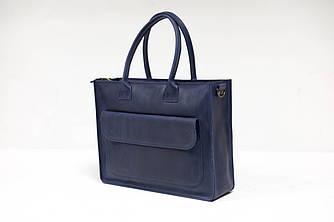 """Женская сумка """"Модель №35"""" Винтажная кожа цвет Синий"""