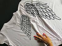Белые футболки для влюбленных с крыльями