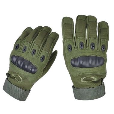 Тактические перчатки полнопалые Oakley М размер зеленые
