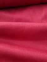 Льняная костюмная ткань бордового цвета
