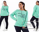 Спорткостюм из кукурузы - туника-фрак на молниях с принтом и приталенные штаны, 3 цвета, фото 2
