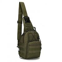 Сумка рюкзак тактическая повседневная на 4-6 литров Traum зеленый